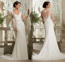 wedding photo - Custom New Lace White/Ivory Wedding Dress Bridal Gown Size 2-4-6-8-10-12-14-16