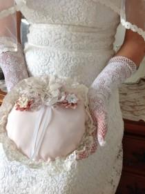 wedding photo - Bridal Ring Pillow For Carrying The Ring