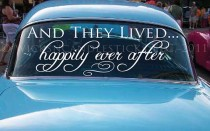 wedding photo - Wedding Getaway Car Decals And They Lived Happy Ever After - New