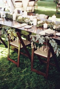 wedding photo - Wedding Chair Decorations