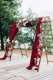 wedding photo - Романтичная Свадьба В Цвете Марсала - Декокит