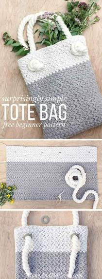 wedding photo - Easy   Modern Free Crochet Bag Pattern For Beginners
