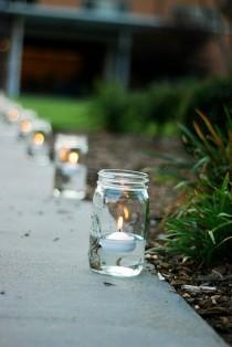 wedding photo - Candles and Jars