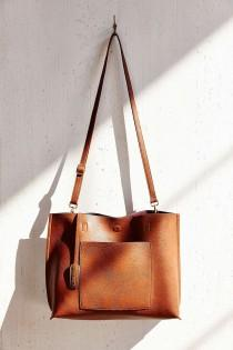 wedding photo - Reversible Vegan Leather Tote Bag