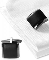 wedding photo - Kenneth Cole Reaction Cufflinks, Polished Hematite Boxed Set