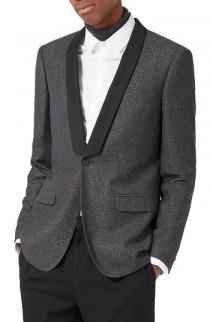 wedding photo - Topman Skinny Fit Jacquard Tuxedo Jacket