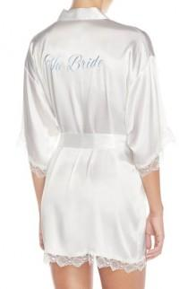 wedding photo - In Bloom by Jonquil 'The Bride' Short Satin Robe