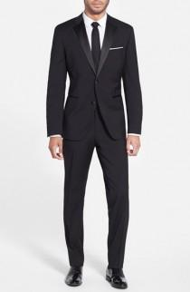 wedding photo - BOSS 'The Stars/Glamour' Trim Fit Wool Tuxedo