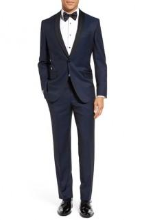 wedding photo - Ted Baker London 'Josh' Trim Fit Navy Shawl Lapel Tuxedo