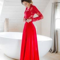 wedding photo - Pure Red Dress