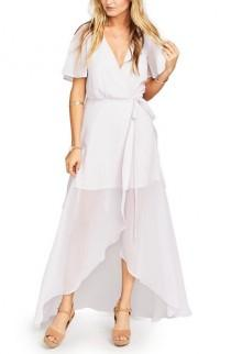 wedding photo - Show Me Your Mumu Flutter Sleeve Wrap Gown