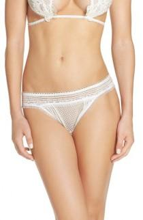 wedding photo - For Love & Lemons Bordeaux Thong