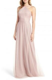 wedding photo - Monique Lhuillier Bridesmaids Tulle Halter Style Gown
