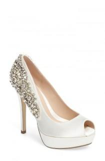wedding photo - pink paradox london Indulgence Peep Toe Pump