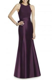 wedding photo - Alfred Sung Mikado Jersey Bodice Trumpet Gown