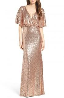 wedding photo - Watters Elson Sequin Blouson Gown