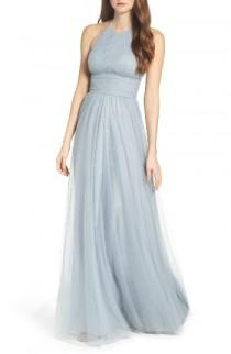 wedding photo - Watters Abigale Tulle Halter Gown