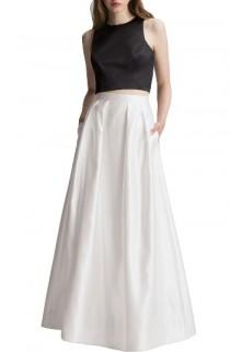 wedding photo - Two-Piece Satin A-Line Gown