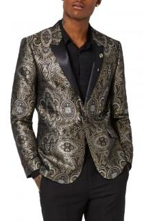wedding photo - Topman Skinny Fit Paisley Tuxedo Jacket