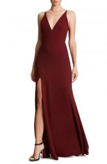 wedding photo - Dress the Population Iris Slit Crepe Gown