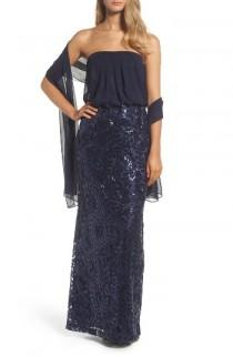wedding photo - Vince Camuto Blouson Gown with Shawl
