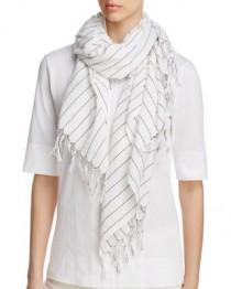 wedding photo - Eileen Fisher  Contrast Stitching Organic Cotton Scarf