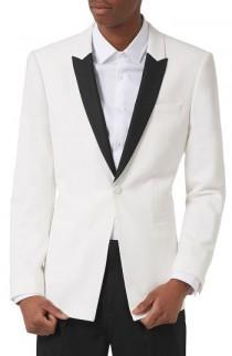 wedding photo - Topman Skinny Fit Contrast Tuxedo Jacket