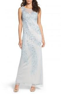 wedding photo - Adrianna Papell Embellished Column Gown