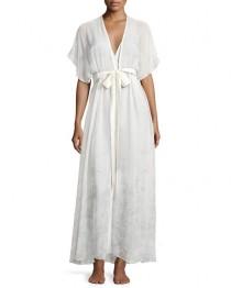 wedding photo - Midsummer Printed Chiffon Long Robe, Multi Pattern