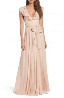 wedding photo - Jill Jill Stuart Ruffle Chiffon Gown