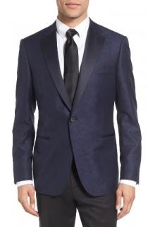 wedding photo - Samuelsohn Classic Fit Wool & Cotton Dinner Jacket