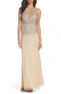 wedding photo - Adrianna Papell Beaded Halter Gown