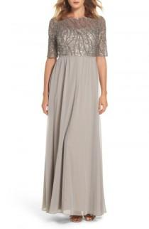 wedding photo - Adrianna Papell Embellished Bodice Gown