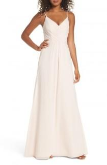wedding photo - Hayley Paige Occasions Gathered V-Neck Chiffon Gown