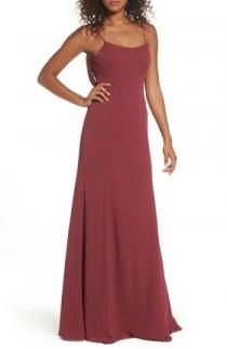 wedding photo - Watters Melanie Cowl Back Chiffon Gown