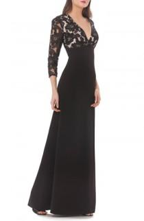 wedding photo - JS Collections Lace & Crepe A-Line Gown