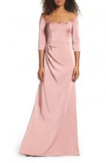 wedding photo - La Femme Sweetheart Satin Gown