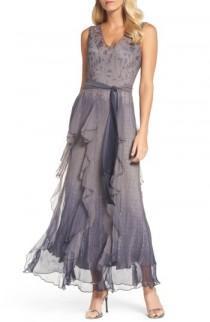 wedding photo - Komarov Print Sash Tie Maxi Dress