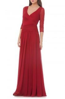 wedding photo - JS Collections Surplice Drop Waist Gown