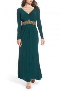 wedding photo - Eliza J Embellished Jersey Gown