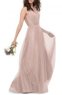 wedding photo - WTOO Bobbinet Halter Gown