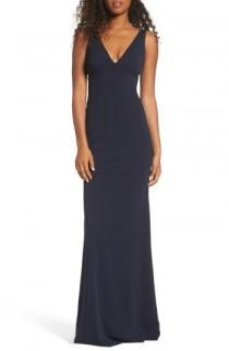 wedding photo - Katie May V-Neck Crepe Gown