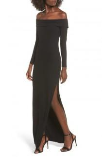 wedding photo - Privacy Please Royale Off the Shoulder Maxi Dress