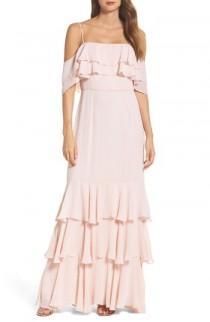 wedding photo - WAYF Lauren Off the Shoulder Tiered Gown