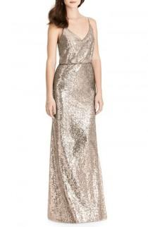 wedding photo - After Six Sequin Blouson Gown
