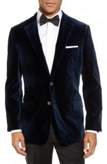 wedding photo - Hickey Freeman Classic Fit Stretch Velvet Dinner Jacket