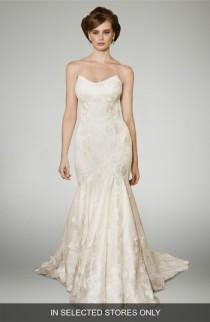 wedding photo - Matthew Christopher Heather Strapless Silk Trumpet Gown