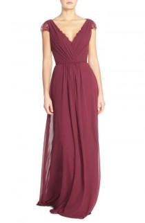 wedding photo - Hayley Paige Occasions Lace & Chiffon Cap Sleeve Gown