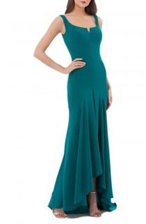 wedding photo - Carmen Marc Valvo Infusion Crepe High/Low Gown