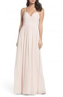 wedding photo - Hayley Paige Occasions Ruffle Detail A-Line Chiffon Gown
